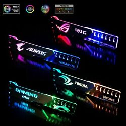 Graphics Video Card Support Holder Aluminum Acrylic RGB Light For ARGB ASUS $47.00