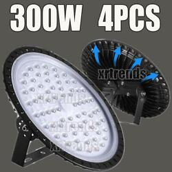4X 300W UFO LED High Bay Light Shop Lights Bulb Warehouse Commercial Lighting
