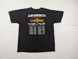 Necrophagist Tour Shirt Adult Large Men Summer Slaughter Death Metal Band 2007 $38.95