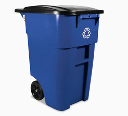 RCP9W2773BLU 50 Gallon Blue Commercial Outdoor Recycling Bin