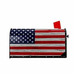 Wooden American Flag Mailbox Covers Retro Patriotic US Flag Welcome Magnetic $33.40
