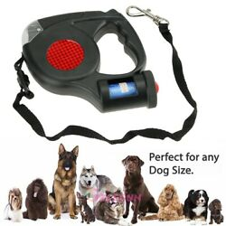Pet Dog Retractable Extendable Leash Lead 5m with LED Flashlight amp; Garbage Bag $13.99