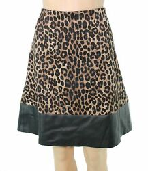 Michael Kors Womens Skirt Classic Brown Size Large L Straight Pencil $98 603 $15.99