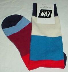 Mens Novelty Fun Socks Red White Blue Size 10 13 New Crew 1 Pair $9.99