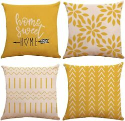 Pillow Covers 18x18 Set of 4 Modern Sofa Throw Pillow Cover Decorative Outdoor