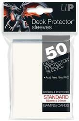 HCW Ultra Pro Deck Protector Sleeves 50ct Pack Gaming Cards White C $4.49