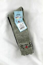 Cat and Jack Girls Knee High Socks 2 Pack Size 9 2.5 Navy and Gray $7.12