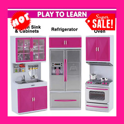 My Modern Kitchen Full Deluxe Kit Battery Operated Toy Doll Kitchen Plays $52.99
