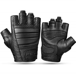 INBIKE Motorcycle Leather Gloves Motorbike Fingerless for Men Cycling MTB Gym S GBP 41.12