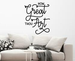 How Great Thou Art Kitchen Living Dining Room Christian Wall Decal Wall Art $32.99