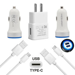 Fast Car Plug Wall Charger USB Cable For LG Stylo 4 5 V30 Google Pixel 3 2 3A XL $7.97