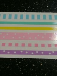 Mrs Grossman Baby Pastel Design Lines Blue Green Yellow Pink Purple Stickers $1.50