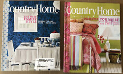 Country Home Magazine 2 Spring Issues 2005 Decorating Cooking Collecting $4.00