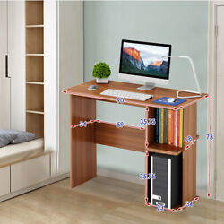 Small Desk Computer PC Laptop Table Workstation Study Home Office Table Shelves $59.99