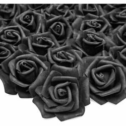 100 Pack Artificial Flowers Fake Foam Roses Heads for Wedding Decoration Crafts $15.99