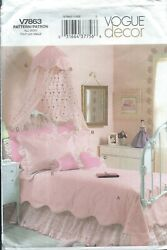 Vogue 7863 Pattern DECOR GIRLS#x27; BEDROOMS PACKAGE Canopy Bedskirt $5.39