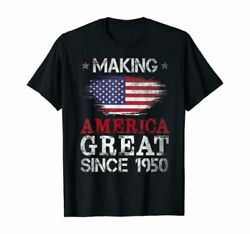 Made In 1950 71st Birthday Gift Men Boys Funny 71 Year Old T Shirt S 5XL Black $17.95