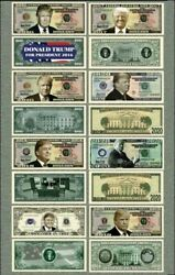 8 LOT Donald Trump Presidential Re Election Novelty Funny Play Money $4.79