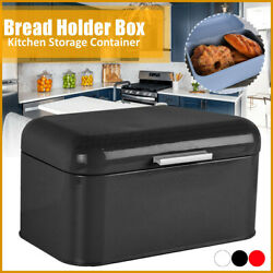 Bread Box Retro Metal Bin Kitchen Container Cake Keeper Food Storage w Lid US $28.56