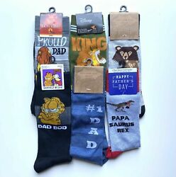 Mens Novelty Socks Fathers Day Proud Dad Lion King of the Jungle New Daddy Gift $11.99