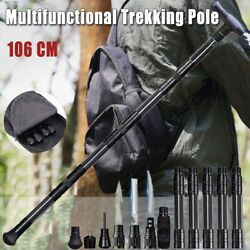 Portable Survival Walking Cane Trekking Poles Multifunction Defense Alpenstock $81.04