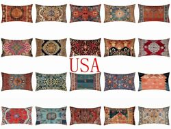 12x20 PILLOW COVER Tapestry Kilim Rug Print Decorative Double Sided Cushion Case $7.86
