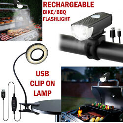 BBQ Grill LED Light Lamp Flashlight Desk Table Clip On Barbecue USB Rechargeable $12.99