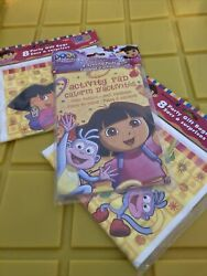 2 Party Makers Plus Party Gift Bags Dora 8pk Each 4 Activity Pads New $2.51