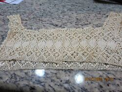 VINTAGE HAND CROCHET PIECE TO ADD TO A GARMENT VIEW PICTURES #GLP4A $9.99