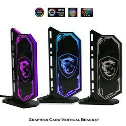DIY Vertical GPU Bracket RGB Acrylic Graphics Card HolderVGA Stand GPU Support $33.62