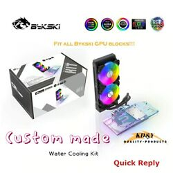 GPU Cooler Water Cooling Kit AIO Radiator Fan Pump GPU Block A RGB CUSTOMIZE $349.00