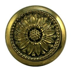 SOLID BRASS antique door knob with plate ITEM # 0502 1 $11.99