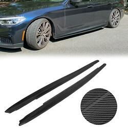 Carbon Color Side Skirt For 2017 19 BMW 5 Series G30 540i M Sport F90 M5 Sedan $150.00