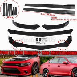 Front Bumper Lip Body Kit Splitter SpoilerSide Skirt For Dodge Charger RT SRT $91.79
