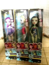 3x Monster High Swimsuit Dolls 2017 Frankie Stein Lagoona Blue Ari Ha $29.99