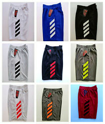 NEW Men#x27;s Shorts Athletic Basketball Workout with Side Pockets amp; Drawstring $13.99