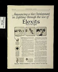 1921 Elexits Electric Outlet Lamps Lighting Vintage Print Ad 14057 $9.97