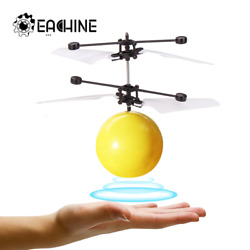Hand Induction Flying Facial Expression Children Drone Helicopter Ball Built In $7.65