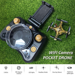 Rc Drone Mini Quadcopter With Camera Hd Rc Wifi Fpv Camera Drone Rc Helicopter T $82.99