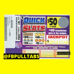 QUICK SLOTS 161 PULL TABS $61 PROFIT DONT USE JACKPOT SEAL MAKE EXTRA $10 $20.00