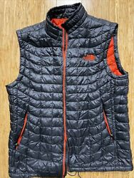North Face Thermoball Quilted Vest Size M Gray $79.99