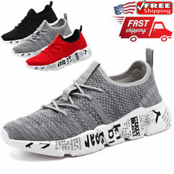 Men#x27;s Casual Sneakers Outdoor Sports Running Athletic Walking Tennis Shoes Gym $19.99