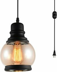 HMVPL Plug in Pendant Lighting Fixtures with Dimmer Switch and Long Hanging Swag $50.90