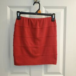 Charlotte Russe Red Pencil Skirt Small $8.99