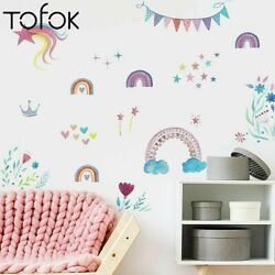 Rainbow Star Wall kids Sticker Children#x27;s Room Kindergarten Party Decorations $9.99