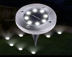 8 Pack Of 8 LED Porch Walkway Outdoor Lights Flat Ground Waterproof Lights $39.99