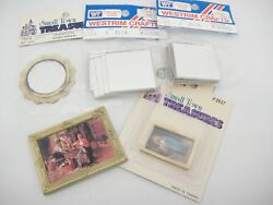 Dollhouse Miniature Wall Decor Mirrors Pictures Jesus Seamstresses Lot of 5 New $7.59