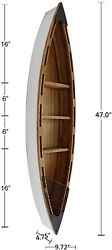Rustic Nautical Wooden Boat Decor Hanging Wood Boat Home Decoration for Wall $116.95