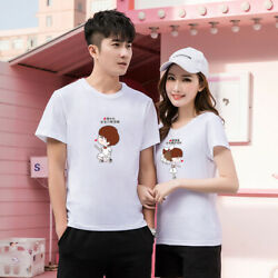 Women men summer tops Leisure Outdoor couple love T shirt We are together $14.98