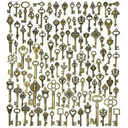 Vintage Keys Skeleton Set Mixed Antique For Pendant DIY Jewelry Making 125 PCS $12.25